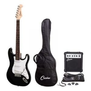 CASINO ST-STYLE ELECTRIC GUITAR AND 10 WATT AMPLIFIER PACK (BLACK)