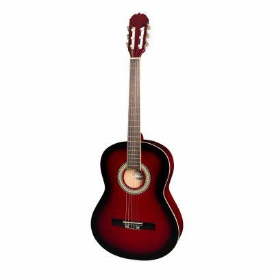 Martinez 'Slim Jim' Full Size Beginner Slim Neck Classical Guitar (Wine Red)