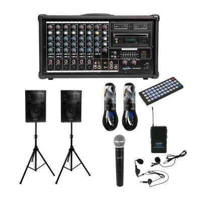 SoundArt 400 Watt 8 Channel Powered Mixer Pack
