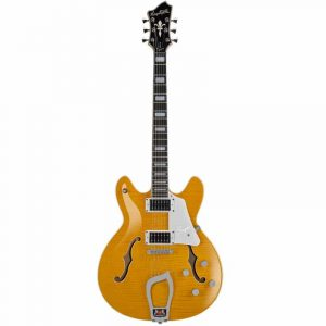 Hagstrom Super Viking Semi-Hollow Guitar in Dandy Dandelion Gloss