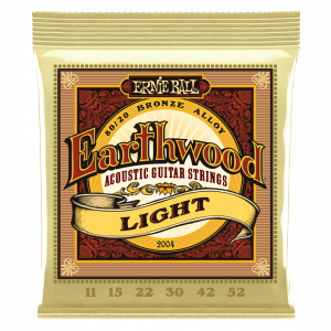 Ernie Ball Earthwood Light 80/20 Bronze Acoustic Guitar Strings, 11-52 Gauge