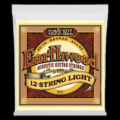 Ernie Ball Earthwood Light 12-String 80/20 Bronze Acoustic Guitar Strings, 9-46 Gauge