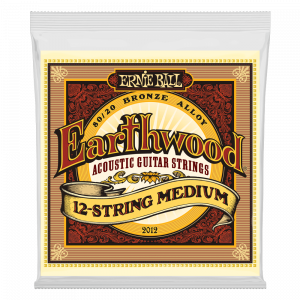 Ernie Ball Earthwood Medium 12-String 80/20 Bronze Acoustic Guitar String, 11-28 Gauge