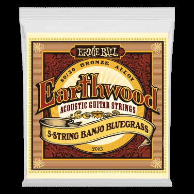 Ernie Ball Earthwood 5-String Banjo Bluegrass Loop End 80/20 Bronze Acoustic Guitar Strings