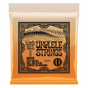 Ernie Ball Concert Nylon Ball End Ukulele Strings, Clear