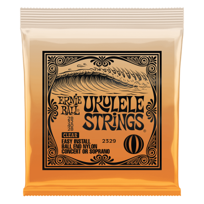 Ernie Ball Concert Nylon Ball End Ukulele Strings, Clear