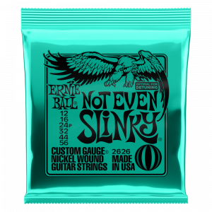 Ernie Ball Not Even Slinky Nickel Wound Electric Guitar Strings 12-56 Gauge