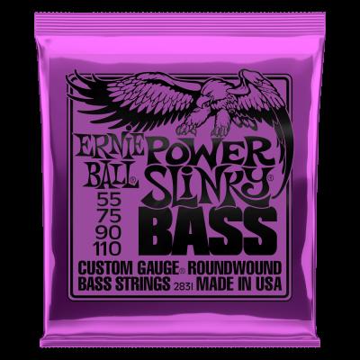 Ernie Ball Power Slinky Nickel Wound Electric Bass Strings 55-110 Gauge