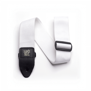 Ernie Ball Polypro Guitar Strap, White