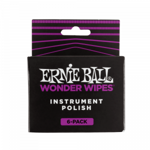 Ernie Ball Wonder Wipes Instrument Polish, 6-Piece