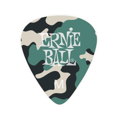 Ernie Ball Medium Camouflage Cellulose Picks 12 Piece Bag