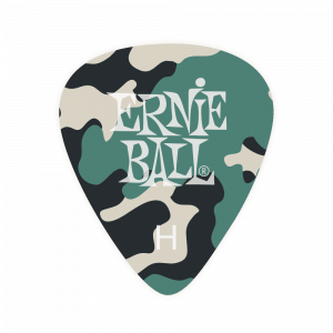 Ernie Ball Heavy Camouflage Cellulose Picks 12 Piece Bag