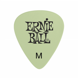 Ernie Ball Super Glow Cellulose Medium Picks, Bag of 12
