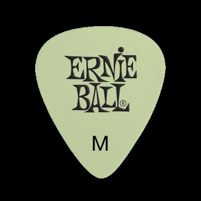 Ernie Ball Super Glow Cellulose Medium Picks, Bag of 12