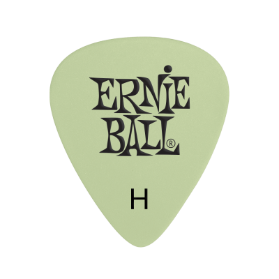 Ernie Ball Super Glow Cellulose Heavy Picks, Bag of 12
