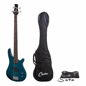 Casino 100 Series Tune-Style Electric Bass Guitar Set (Transparent Blue)
