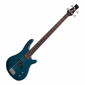 Casino 100 Series Tune-Style Electric Bass Guitar Set (Transparent Blue)