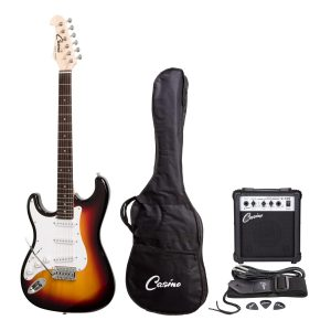 Casino ST-Style Left Handed Electric Guitar and 10 Watt Amplifier Pack (Sunburst)