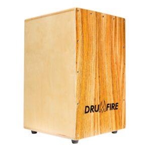 Drumfire Ebenaceae Front Wooden Cajon