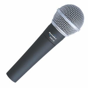 SoundArt Hand-Held Dynamic Microphone with Protective Bag
