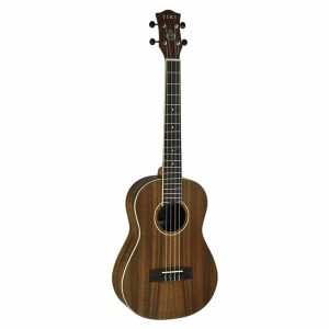 Tiki '9 Series' Koa Solid Top Electric Baritone Ukulele with Hard Case (Natural Satin)