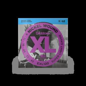 D'Addario EXL120 Nickel Wound Electric Guitar Strings, Super Light, 9-42