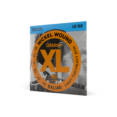 D'Addario EXL140 Nickel Wound Electric Guitar Strings, Light TopHeavy Bottom, 10-52