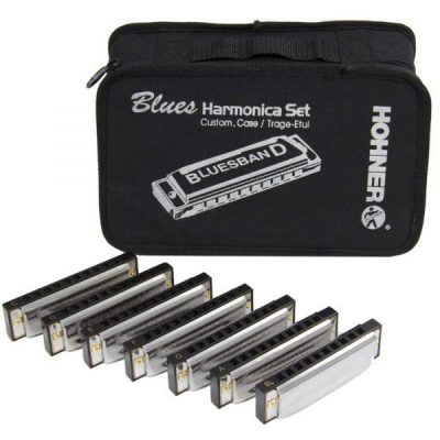 hohner-blues-harmonica-starter-pack-7-piece-with-case-91105-