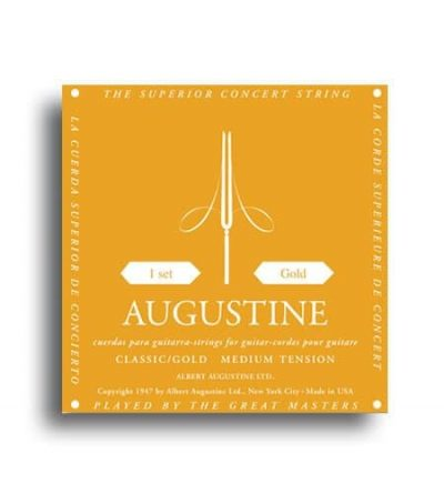 Augustine Classic Gold Strings - Regular Tension Trebles / Medium Tension Basses