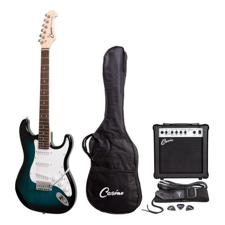Casino ST-Style Electric Guitar and 15 Watt Amplifier Pack (Blue Sunburst)